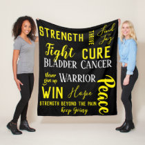 Bladder Cancer Warrior blanket