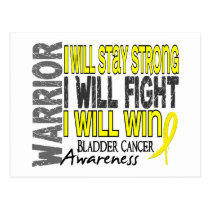 Bladder Cancer Warrior Postcard