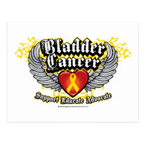 Bladder Cancer Wings Postcard