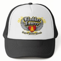 Bladder Cancer Wings Trucker Hat