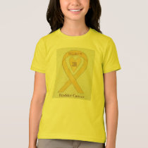 Bladder Cancer Yellow Awareness Ribbon Heart Shirt