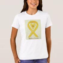 Bladder Cancer Yellow Awareness Ribbon Heart Shirt