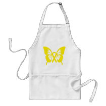 Bladder Cancer Yellow Butterfly apron