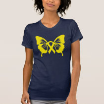 Bladder Cancer Yellow Butterfly t-shirt