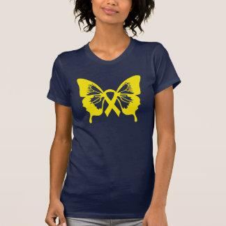 Bladder Cancer Yellow Butterfly t-shirt