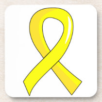 Bladder Cancer Yellow Ribbon 3 Beverage Coaster