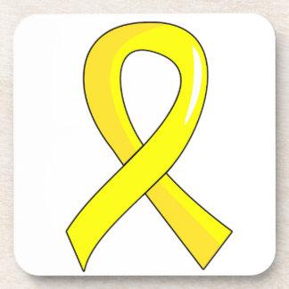 Bladder Cancer Yellow Ribbon 3 Beverage Coaster