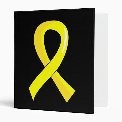 Bladder Cancer Yellow Ribbon 3 Binders
