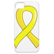 Bladder Cancer Yellow Ribbon 3 iPhone SE/5/5s Case