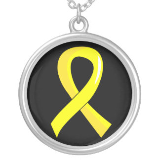 Bladder Cancer Yellow Ribbon 3 Necklaces