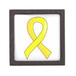 Bladder Cancer Yellow Ribbon 3 Premium Trinket Boxes