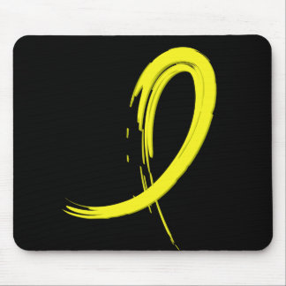 Bladder Cancer's Yellow Ribbon A4 Mouse Pad