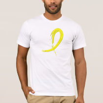 Bladder Cancer's Yellow Ribbon A4 T-Shirt