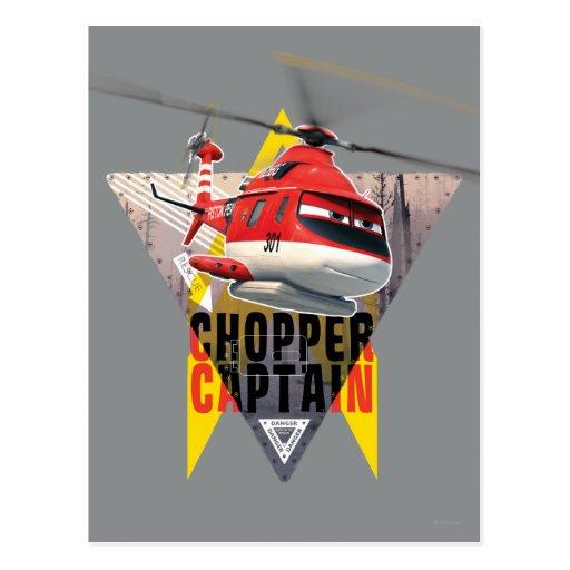 Blade Ranger Chopper Captain Post Cards