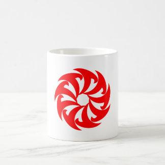 Blade spiral of blades spiral coffee mug