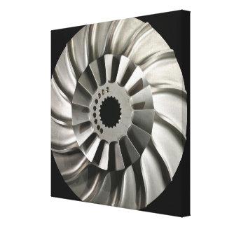 Bladed Impeller Disc of the element Titanium Canvas Print