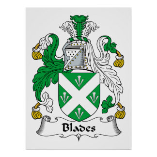 Blades Family Crest Print