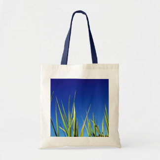Blades of Grass  against a summer blue sky. Tote Bag