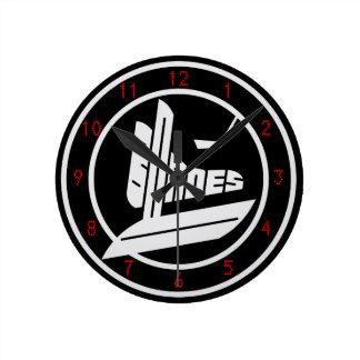 Blades Round Clock