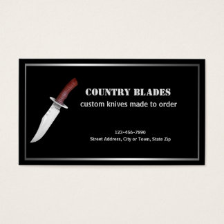 Bladesmith Featuring Bowie Knife Business Card