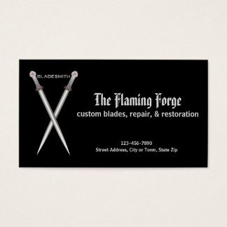 Bladesmith Metal Forge Business Card