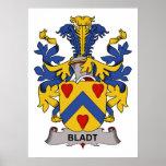 Bladt Family Crest Poster