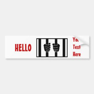 Blago behind bars bumper sticker