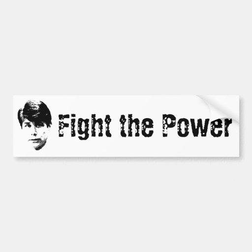 Blago-Fight the Power Car Bumper Sticker