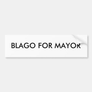 Blago para el alcalde de las pegatinas para el par etiqueta de parachoque