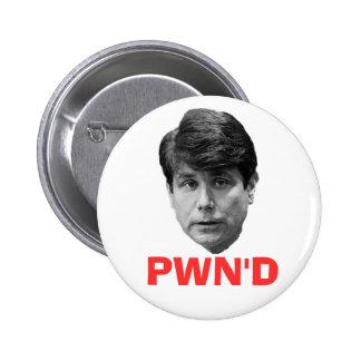 Blagojevich:  PWN'D Pin Redondo 5 Cm