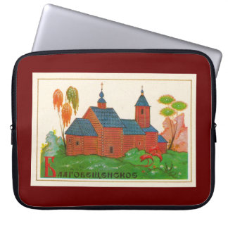 Blagoveshchenskoye Wood Russian Church Computer Sleeve