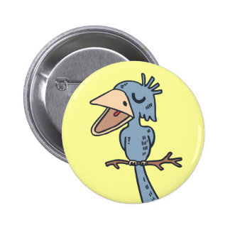 Blah Blah Bird Button