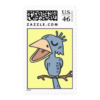 Blah Blah Bird Postage Stamp