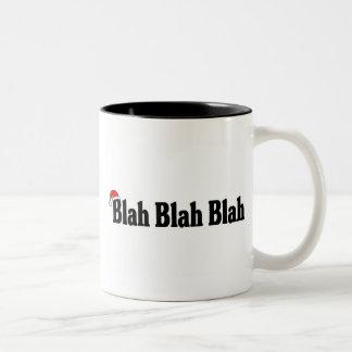 Blah Blah Blah Christmas Two-Tone Coffee Mug
