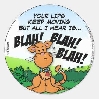 BLAH! BLAH! BLAH! CLASSIC ROUND STICKER