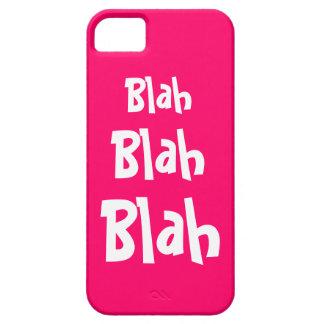 Blah Blah Blah Hot Pink iPhone 5 Case