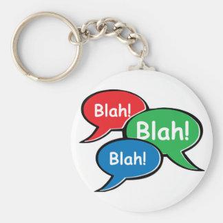 Blah Blah Blah Keychain