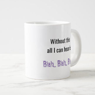 Blah Blah Blah Large Coffee Mug