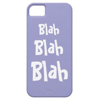 Blah Blah Blah Lilac Purple iPhone 5 Case