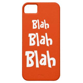 Blah Blah Blah Orange iPhone 5 Case