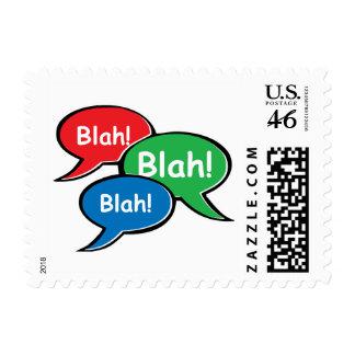 Blah Blah Blah Postage Stamps
