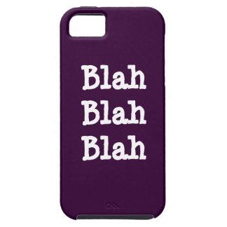Blah Blah Blah Purple iPhone 5 Case