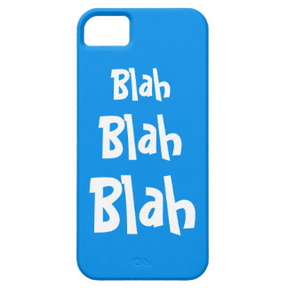 Blah Blah Blah Teal Blue iPhone 5 Case