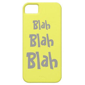 Blah Blah Blah Yellow Gray iPhone 5 Case