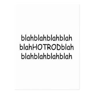 Blah Blah Hot Rod Blah Blah Post Card