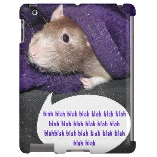 blah blah rat iPad case