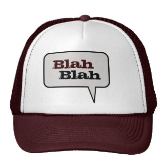 Blah Blah Speech Bubble Hat