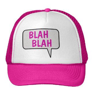 Blah Blah Speech Bubble Talking Hat