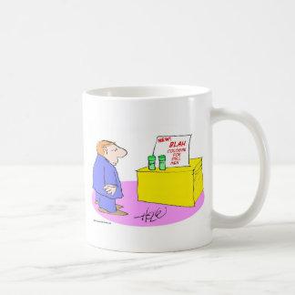 blah cologne for dull men coffee mug
