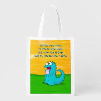 Blah dino, reusable bag reusable grocery bags